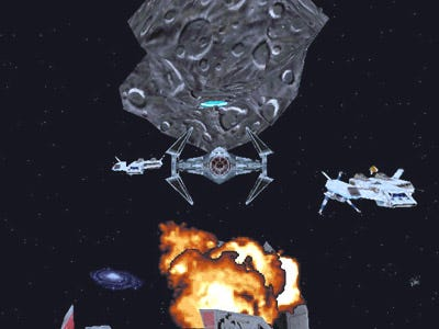 The odds of surviving an asteroid field are...