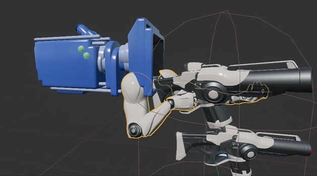 Camera with arms and weapon in UE4