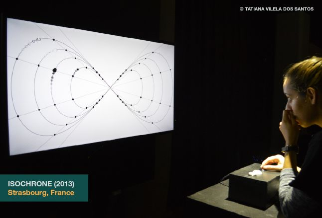 Isochrone as exhibited at IN.PLAY//OUT.PLAY, Tatiana�s solo exhibit, in Strasbourg, France