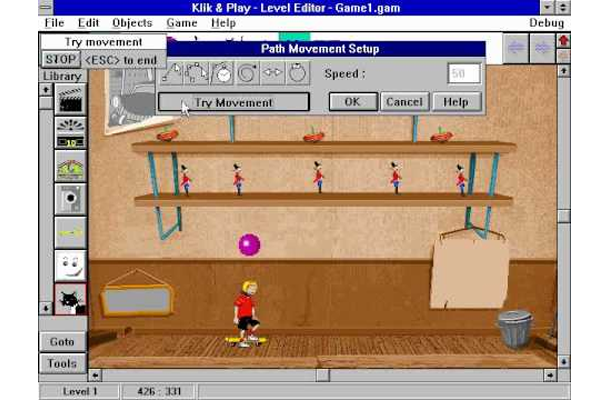 This is an image that shows the basic interface of Klik&Play