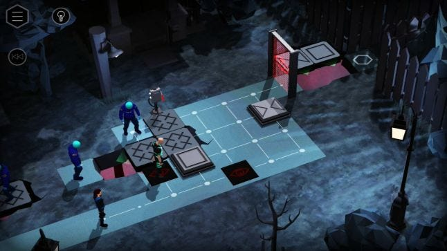 Orphan Black gameplay, showing tiles differentiated by different symbols