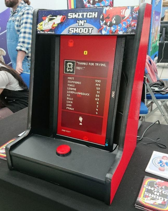 Switch 'N' Shoot desktop arcade cabinet by DSM Arcade