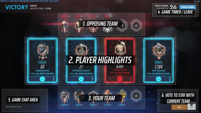 Overwatch UI / Post-game UX