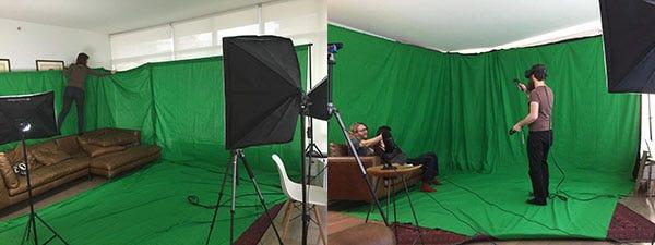 Our green screen studio