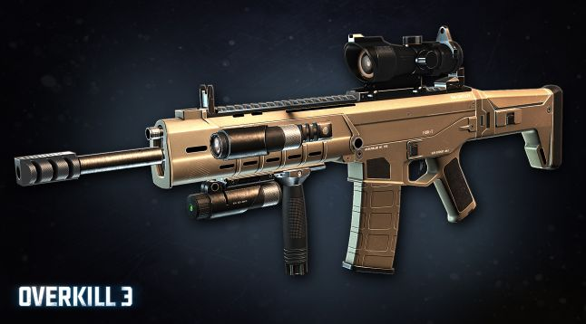 Overkill 3 - ACR final look with attachments.