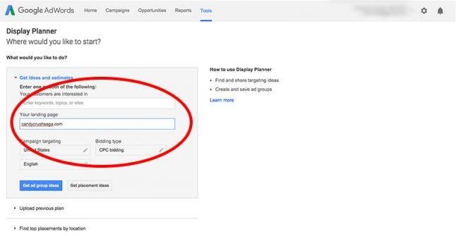 Google AdWords Display Planner
