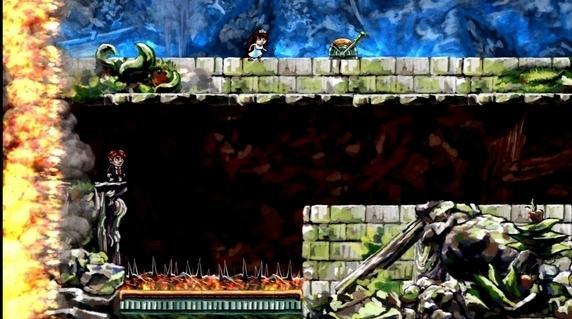 Running from firey walls