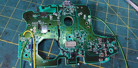 circuit board of an xbox one controller