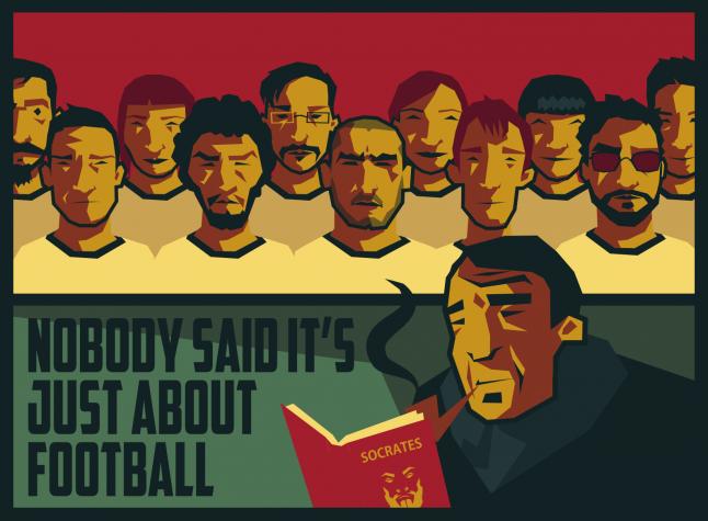 Football coach studying Greek philosophy