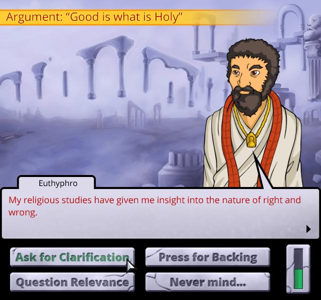 Socrates Jones screenshot - questions
