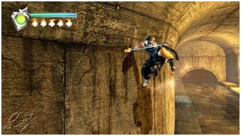 Image of the wall run attack from Ninja Gaiden