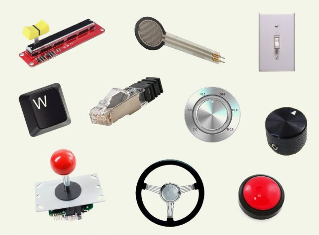 Different controllers, each one related to a specific type of variable understood by a computer
