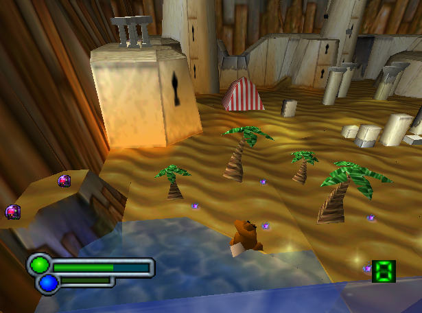 The draw distance on the N64 version is always impressive – it also allows players to plan ahead when solving puzzles!