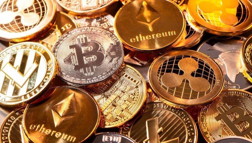 Clúster de bitcoins dorados
