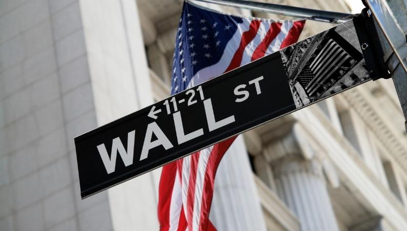 Wall Street, US flag