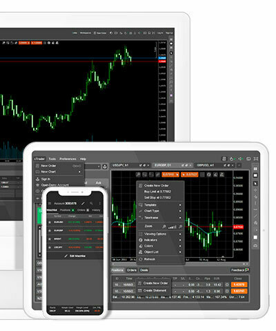 cTrader is free - available across desktop, mobile and web