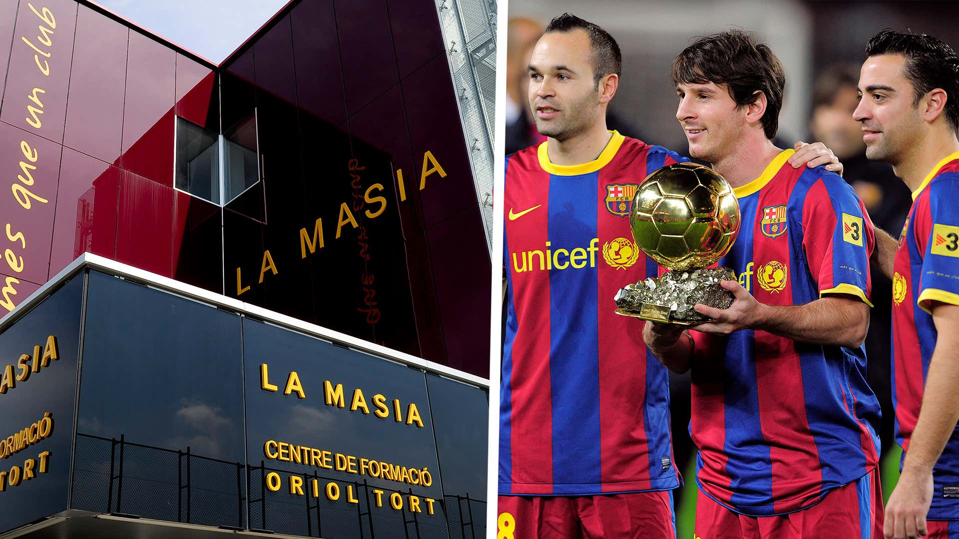 La Masia Andres Iniesta Lionel Messi Xavi Barcelona