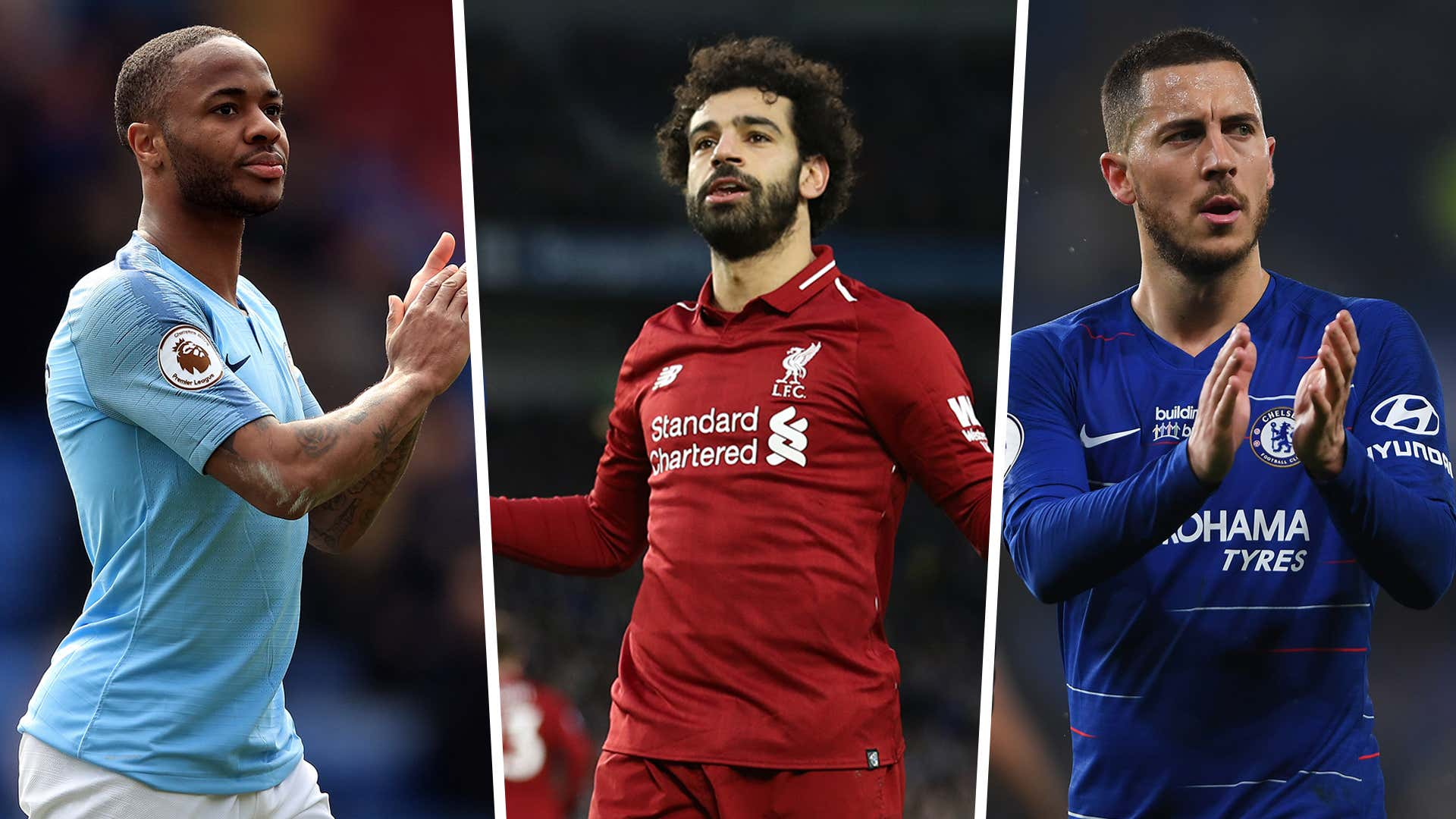 PFA 2018-19 Mohamed Salah Raheem Sterling Eden Hazard