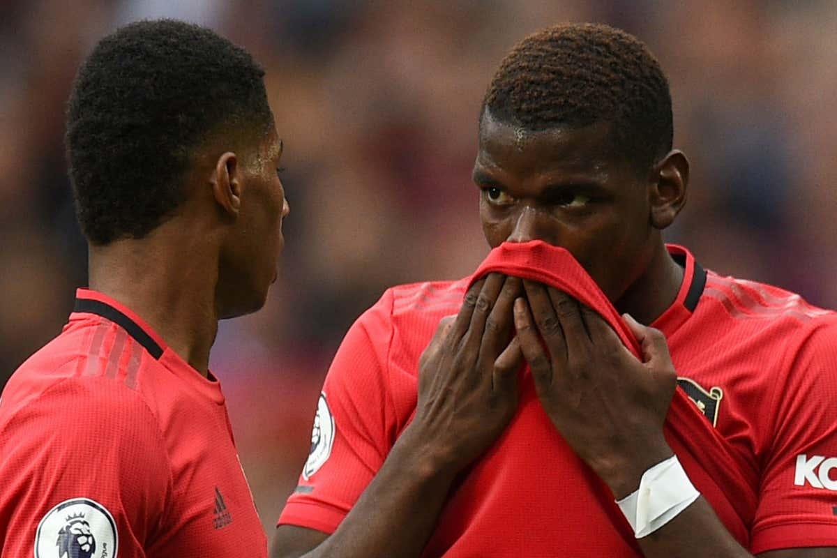 Marcus Rashford Paul Pogba Manchester United 2019-20