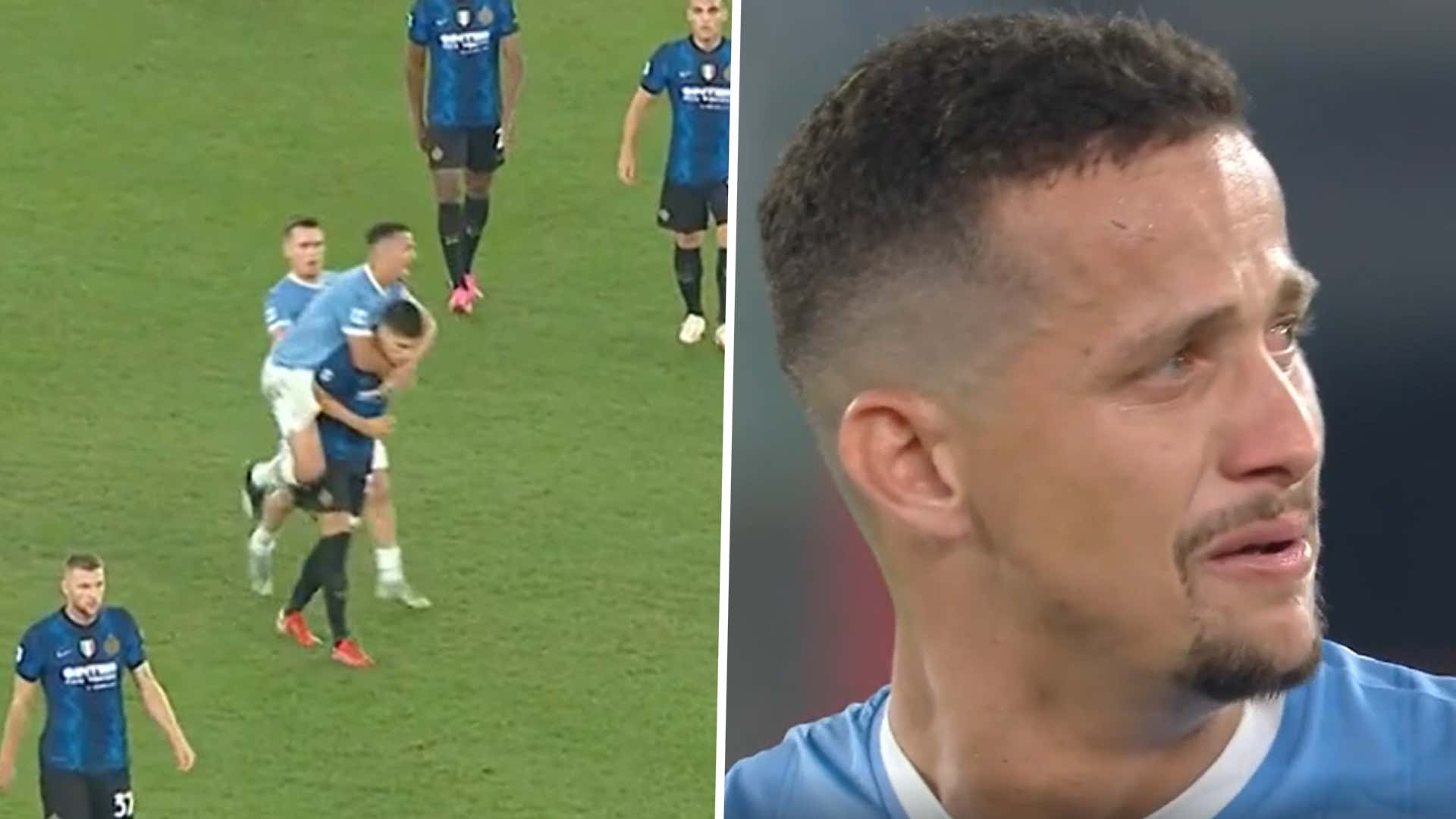 VIDEO: Überfall von hinten! Lazios Luiz Felipe kassiert die dümmste Rote Karte der Saison | Goal.com