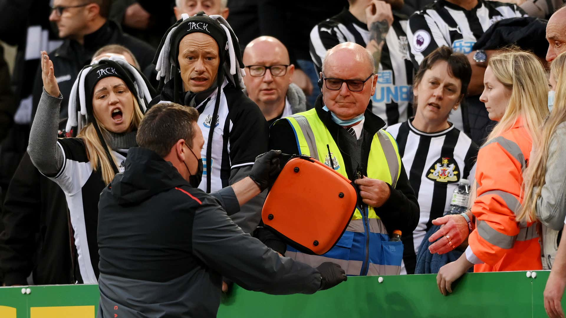 Medical emergency involving fan at St James' Park causes Newcastle vs Tottenham game to be stopped
